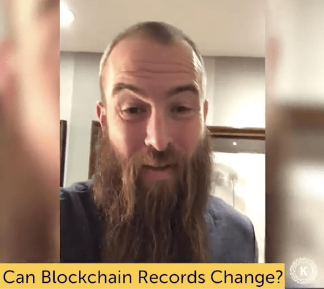 Can Blockchain Records Change