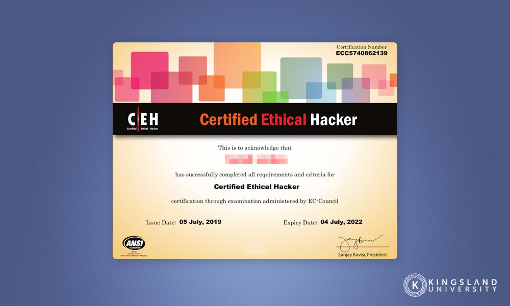 CEH Example Certificate