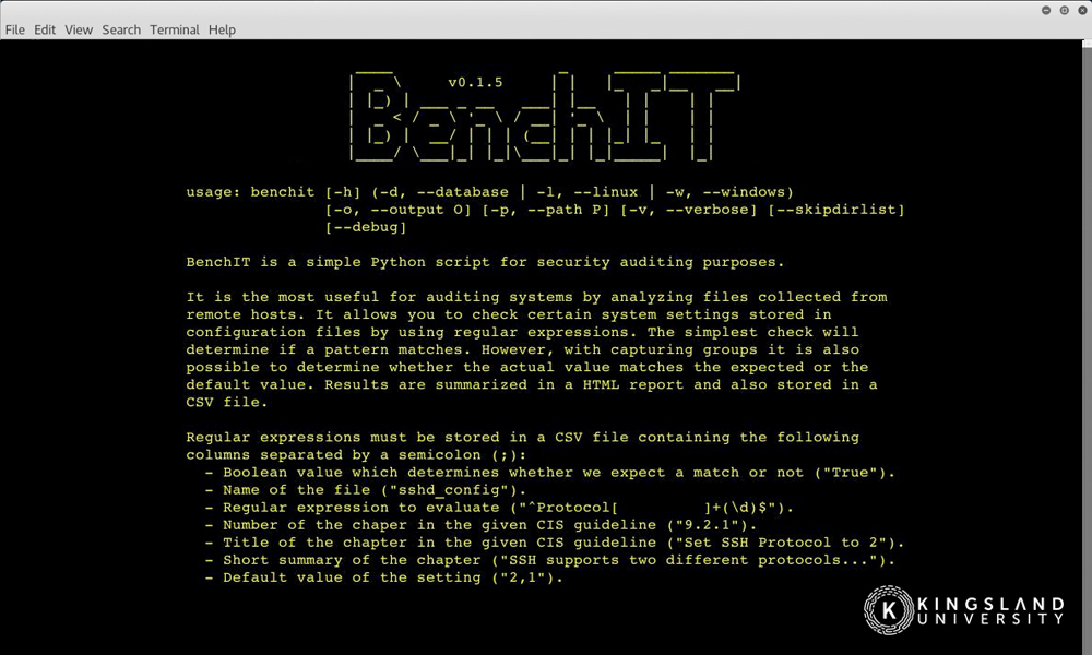 Example Python Script