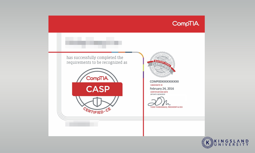 CASP Certificate compTIA