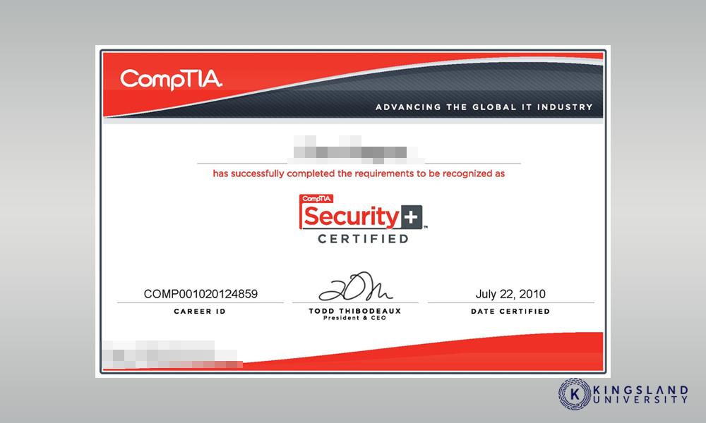 comptia security plus certification
