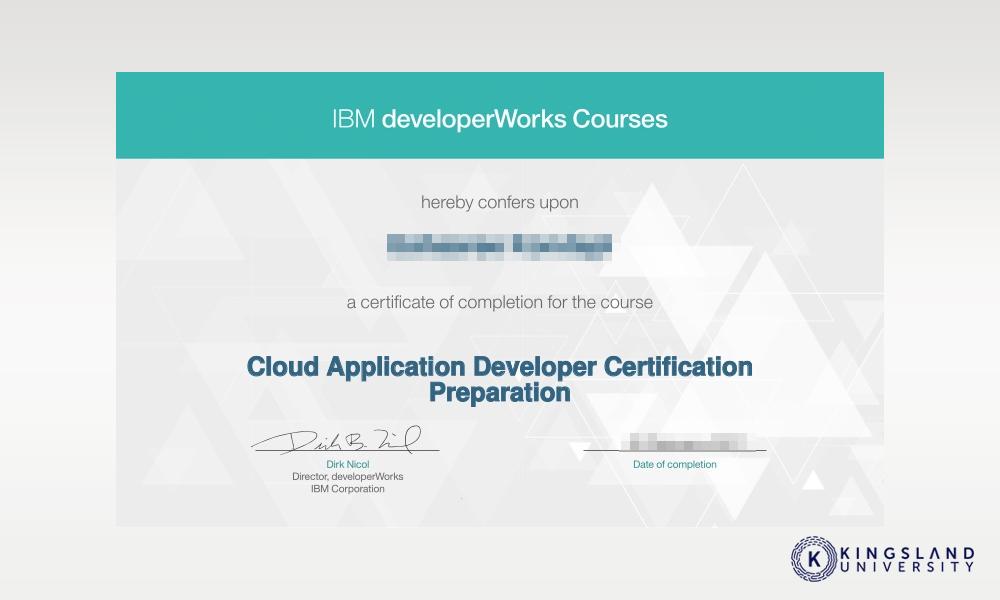 IBM Course Certificate
