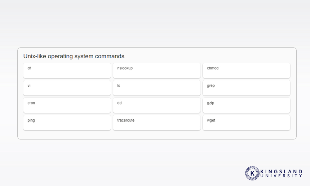Unix Commands Example