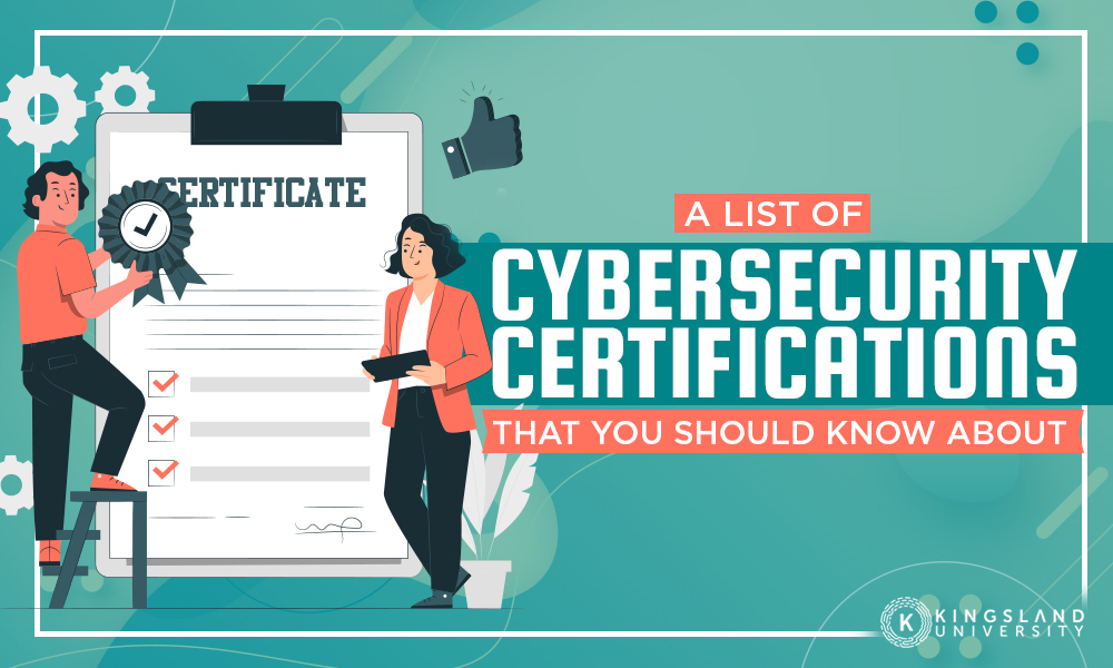 List Cybersecurity Certifications